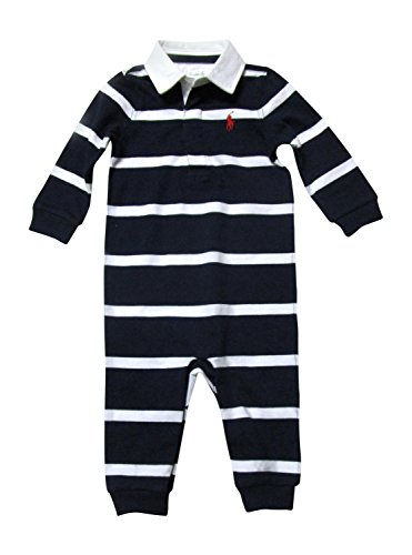 Polo Ralph Lauren Infant Boys Rugby Striped Coverall 9M