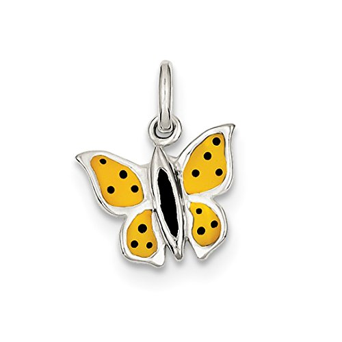 (925 Sterling Silver Enameled Butterfly Pendant Charm Necklace Animal Fine Jewelry Gifts For Women For Her)
