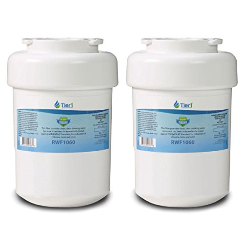HOME AND GARDEN Shop Fits GE MWF SmartWater MWFP GWF Comparable Refrigerator Water Filter 2 Pack by HOME AND GARDEN Shop