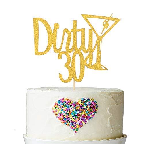 Dirty 30 Decoración para tarta y copa de champán ...