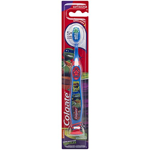 Colgate Kids Extra Soft Toothbrush with Suction Cup – TMNT (6 Pack)