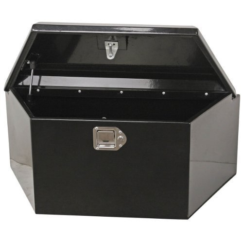 Trailer Tongue Box Larger 2.75 Cu Ft. Safeguard Weatherproof Fishing Gear, Tools, Boat, Camp Equipment Guaranteed Securely In This Portable Locked Steel Storage Toolbox. Space Saving Design