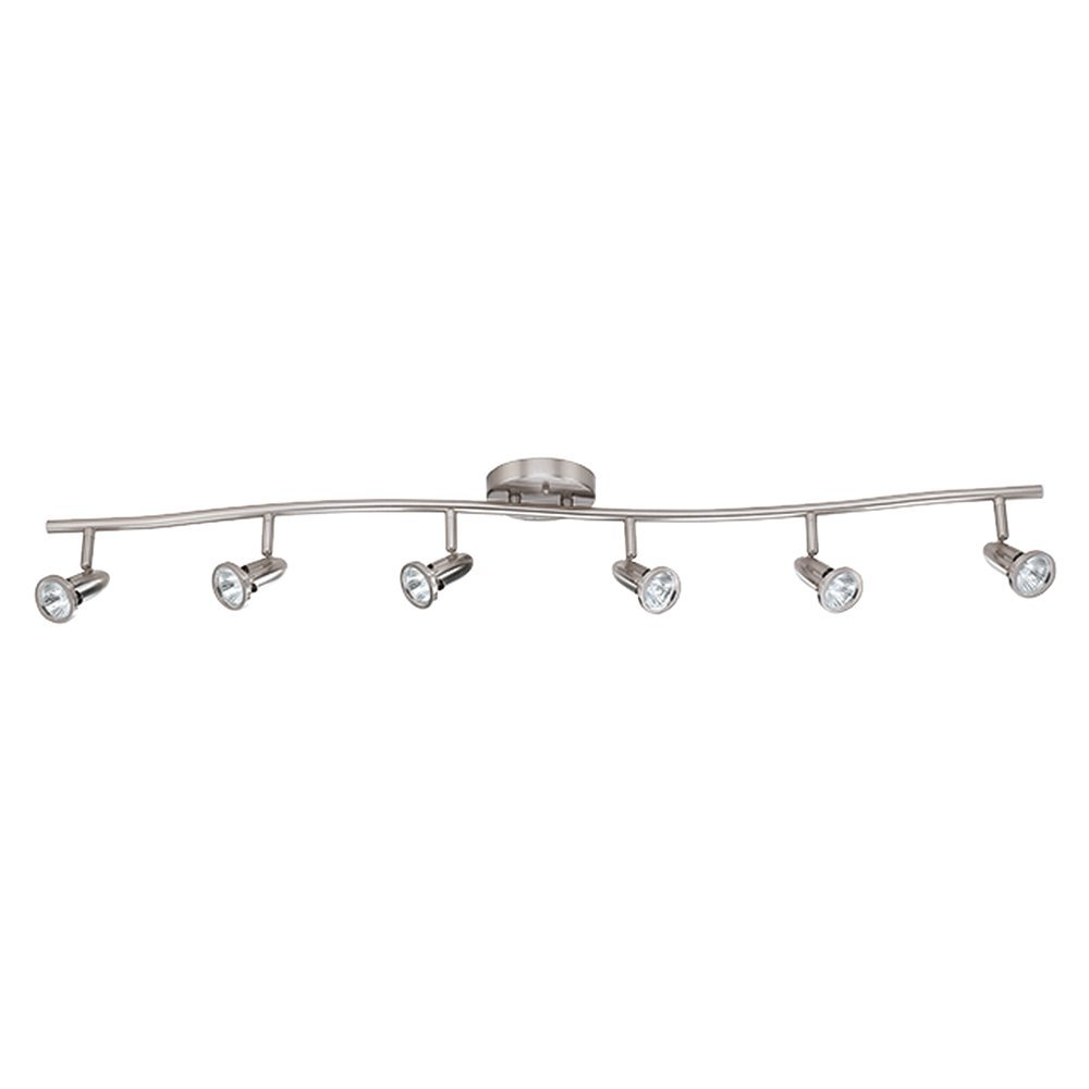 Luminance F2992-80 Contemporary 6 Halogen Track Light with Bright Satin Nickel Finish