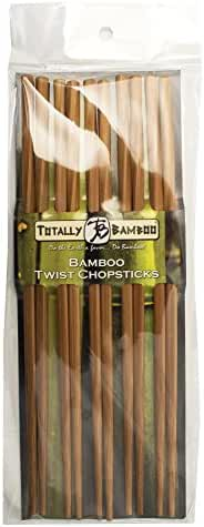 Totally Bamboo Twist Chopsticks, Reusable, 100% Bamboo, Set of 5 pairs