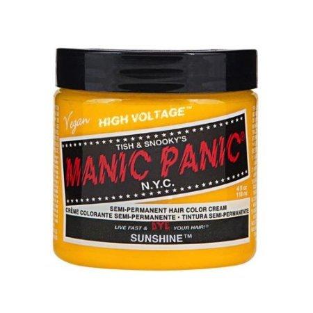 Manic Panic Hair Dye Classic Cream Color Sunshine Yellow Semi-Permanent Formula