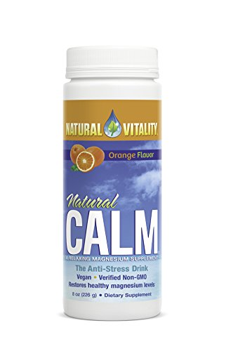 Natural Vitality Magnesium Calm Supplement - Stress Relief Orange Drink, 8 Ounce Anti Stress Drink. Magnesium Supplement