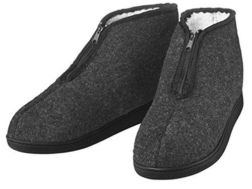 Herren Hausschuhe Pantoffeln kuschelig warm gefüttert Gr.44