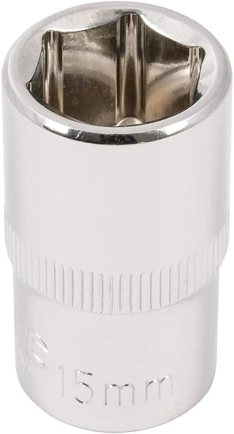 15 mm Silverline 859576 Drive Metric Hex Socket 1//2-inch