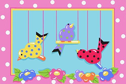 (Jade Reynolds-Swingin Chicks Childrens Area Rug JR-TSC-201 3958 39 Inch x 58 Inch)