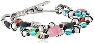 "Lucky Brand Silver-Tone Frida Clip Bracelet, 7.5"""