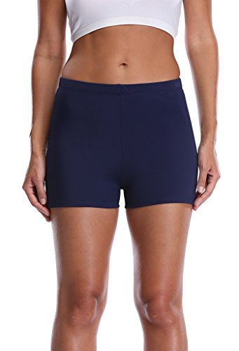 Attraco Women's Plus Size Broad Swimming Bottom Swim Brief Blue 16