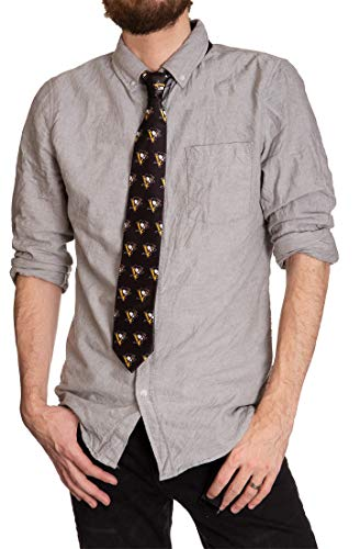 NHL Men's All Over Team Logo Neck Tie (Pittsburgh Penguins) ()
