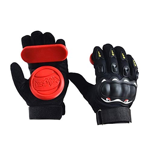 (Dynamic Items Shop Skateboard Gloves - Longboard Friction Gloves with Protective Sliders Professional Down Hill Skate Board Gloves - 1 Pair)