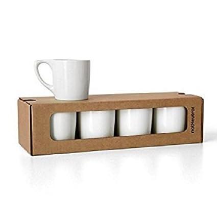 Amazon.com: notNeutral 01501770R Lino Coffee Mugs, Set of 4, White ...