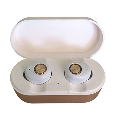 Price comparison product image Wireless Earbuds, ENACFIRE E18 Bluetooth Earbuds 15H Playtime 3D Stereo Sound Wireless Headphones, White