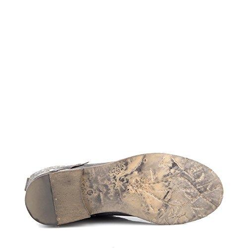 Felmini - Scarpe Donna - Innamorarsi com Modigliani 8892 - Stivali Lacci - Genuine Pelle - Grigio