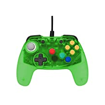 Retro Fighters Next Gen Nintendo 64 Controller Brawler64 Gamepad Transparent Green