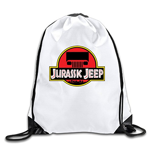 (Bieshabi Jurassk Jeep Logo Drawstring Backpacks Bag Sack)