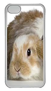 iPhone 5C Case Fluffy Rabbits PC Custom iPhone 5C Case Cover Transparent