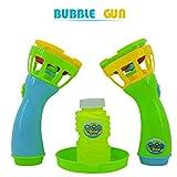 Rawdah Summer Funny Magic Bubble Blower Machine Mini Fan Kids Outdoor Toys (metallic)