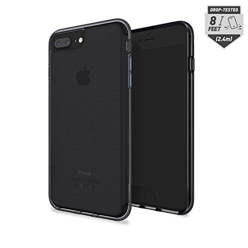 Price comparison product image Skech Matrix ShockProof Protective Transparent Case for iPhone 8 Plus (7 Plus/6s Plus compatible) -Black/JetBlack