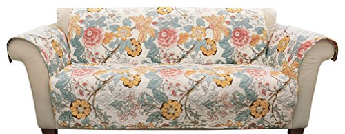 Lush Decor Sydney Sofa Furniture Protector Blue/Yellow