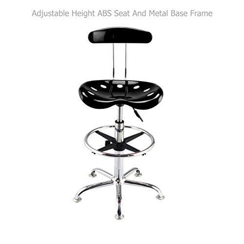 Free Adirondack Furniture Plans - Modern Slick Design Vibrant Color Seat Adjustable Bar Stools Swivel Drafting Dining Chair Durable Chrome Footrest/ Black #1079