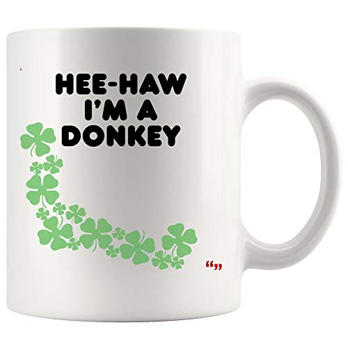 Funny Cup Coffee Mug for Men Women Hee-Haw Im Donkey Hilarious Halloween Lazy Costume Sport Joke Novelty Gifts for Friend]()