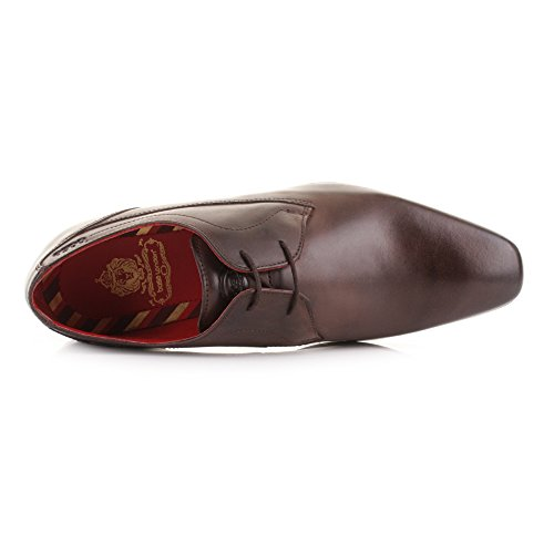 Base London Button Hombre Zapatos Marrón Marrón