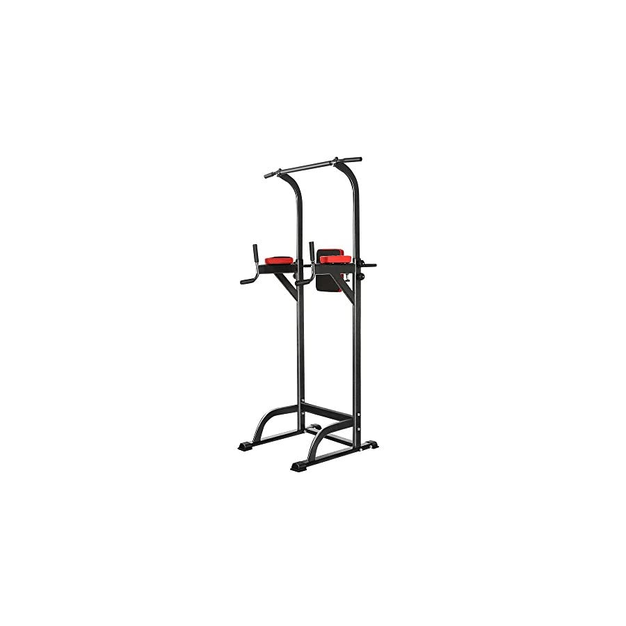 Hindom (US Stock) Office Multi Function Portable Adjustable Power Tower,Home Free Standing Pull Up Bar Strength Training Equipment for Exercise