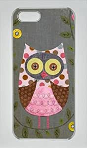 Cute Owl-4 Shocklock Iphone 5/5S Hard Shell Transparent Sides Case