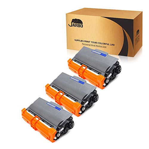 JARBO Compatible for Brother TN750 TN-750 TN720 TN-720 Toner Cartridges, 3 Black, Use with Brother 5470DW 8710DW 5450DN 8910DW 6180DW 5470DWT 8510DN 6180DWT 8155DN 8150DN 8110DW Printer