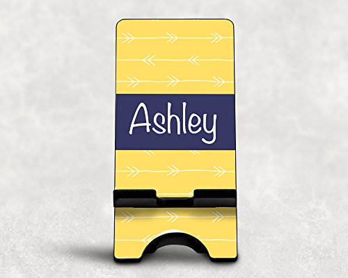 Personalized Yellow Arrows Smart Phone/Smart Device Stand for iPhones and Other Devices ()