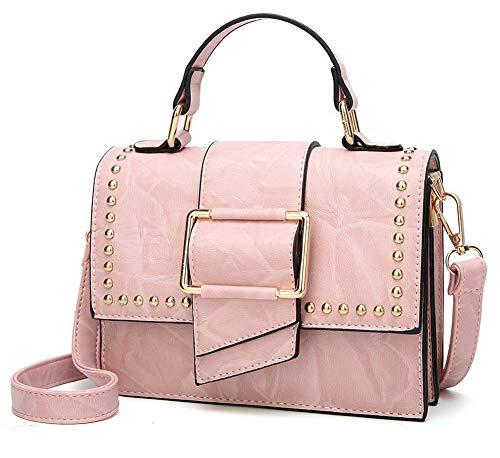 AllhqFashion Borse Rosa a FBUIBD181654 tracolla tracolla Costellato Moda Donna Borse Giallo a Luccichio rwRCr6nq