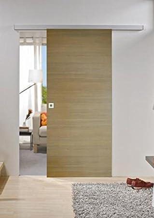De madera para puerta corredera 880 x 2035 mm, madera: pino, juego completo con carril de + puerta + cierre mecanismo de cierre suave: Amazon.es: Bricolaje y herramientas