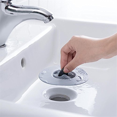 (Sink Strainer -Fheaven Stainless Steel Wave Stopper Hair Catcher Stopper Shower Filter Hair Trap Stops (A))