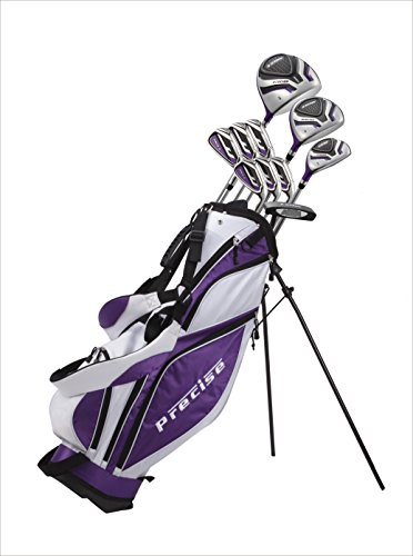 Custom made Ladies Tall Complete Right Hand Golf Club set for Women 5'6'' to 6'0'' Tall Includes Driver, Wood, Hybrid, Stainless Irons, Putter, Stand Bag Purple by Top Performance