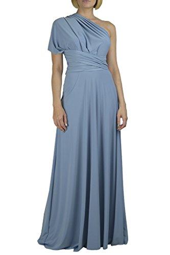 (Von Vonni Infinity/Transformer/Convertible Maxi Dress (Steel Blue, One Size))