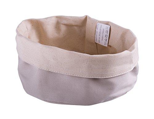 Paderno World Cuisine 42875-20 Round Canvas Bread Basket, Beige by Paderno World Cuisine (Image #2)