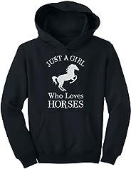 Tstars A Girl Who Loves Horses Horse Lover Gift Girls' Youth Ho