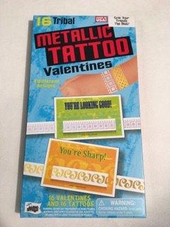 Tribal Metallic Tattoo Valentines Mello Smello