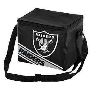 Oakland Raiders Big Logo Stripe 12 Pack Cooler - Logo Cooler