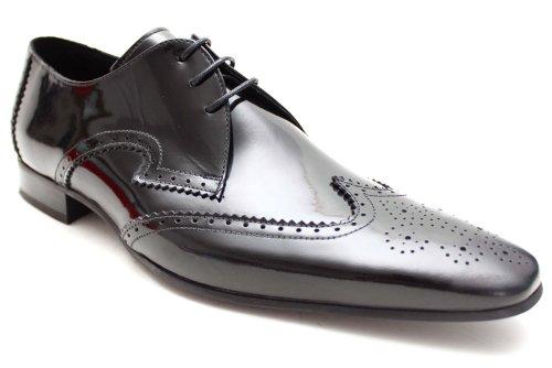 Jeffery West Black Line G0562Ap - Chaussures de ville vernies homme - style richelieu