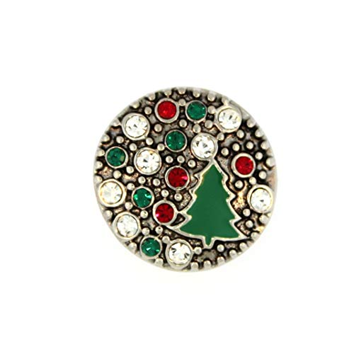 Ginger Snaps Kiss Holiday Tree Charm Accessory | Interchangeable, Customizable & Adjustable Snap Jewelry Collection | Button Charms for Necklaces, Bracelets & Rings | Standard Size | SN19-34