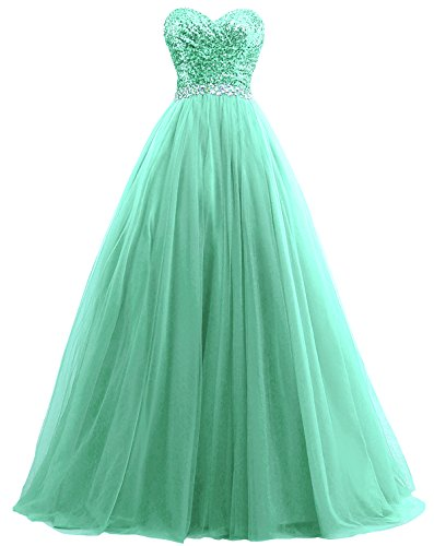 Sweetheart Prom Women's Quinceanera Dresses Anna's Ball Bridal Mint Gowns Sequined 5EpwIwq