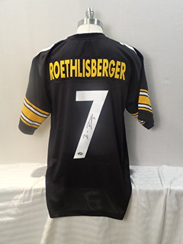 Ben Roethlisberger Authentic Jersey - Ben Roethlisberger Signed Pittsburgh Steelers Black Autographed Novelty Custom Jersey PLAYER HOLOGRAM