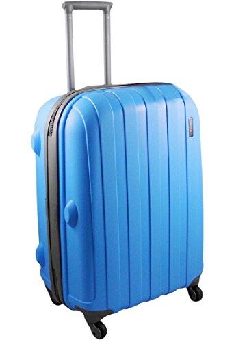 'Luggage X' – 66cm (26″) Blue Hard Sided Polypropylene Lightweight Trolley Suitcase