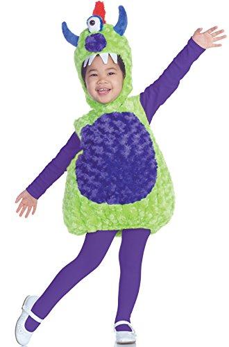 Underwraps Costumes Baby's Cyclops Monster Alien Costume , Green/Purple, - Cyclops Eye Costume