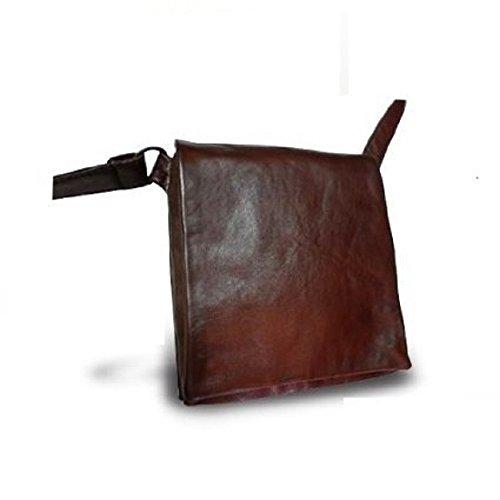 Borsello messenger in pelle effetto -Vero Artigianato italiano - L17xH19xP3 cm MOD : Alex Mini