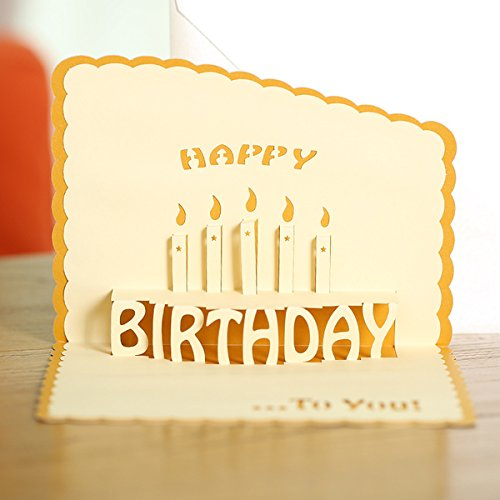 Amazon Com Actasy Tech 3d Creative Birthday Paper Card With